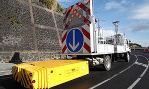 Traffic management equipment on Auckland road